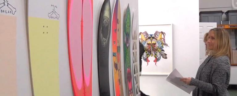 NEON DAZE & WINTER WAVES Art & Snowboarding Powder Boards
