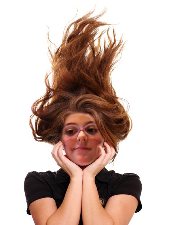 2012 Bianca con i capelli lunghi