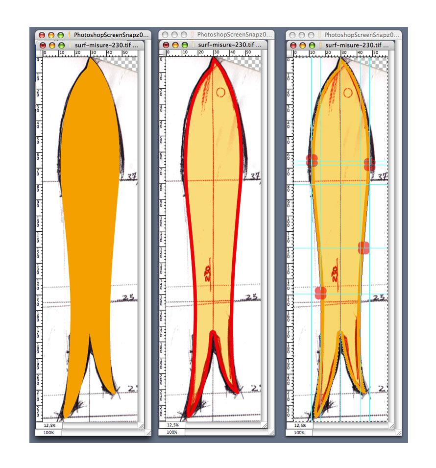 Partendo dalle proporzioni del Winterstick Ettore e Gionata creano un primo disegno di uno swallow asimmetrico