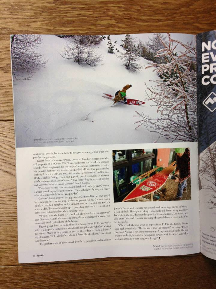 Kronicle Magazine about Peace Love and Powder-02